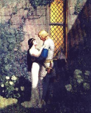 "Arthurian Art - Wyeth's ""oh, gentle knight,"" said la Belle Isolde, ""full woe am I of thy departing"""