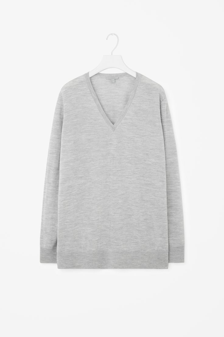 COS | V-neck merino jumper