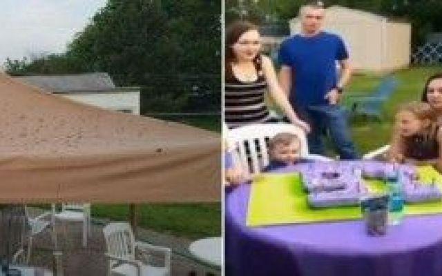 Una festa di compleanno rovinata da una pioggi di m...a Jacinda, una ragazzina della Pennsylvania stava festeggiando i suoi 16 anni con la sua famiglia e i circa 40 invitati e tutto andava per il meglio.Fino a quando ha dovuto interrompere il taglio della