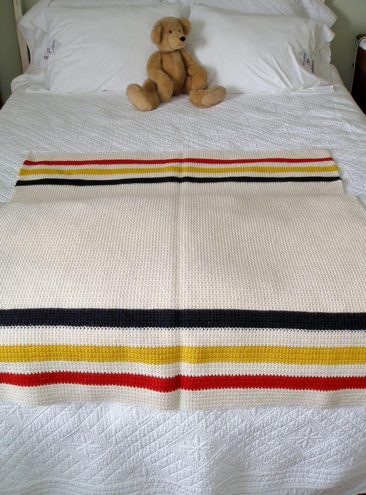 single crochet hudson bay blanket