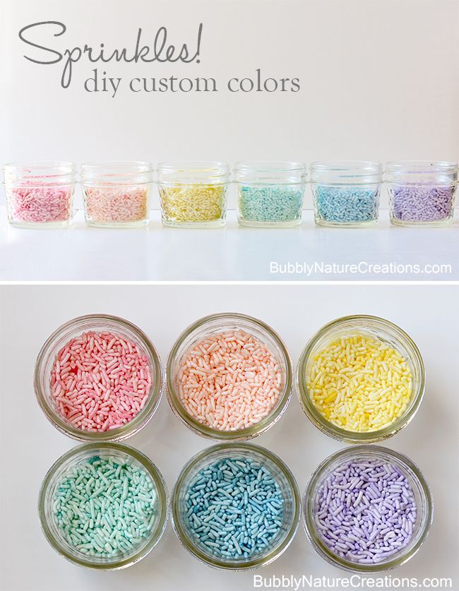Sprinkles! {diy custom colors}  Make your sprinkles into any color using food colors!  Such an easy method that you'll wonder why you never tried it before.  Just follow this tutorial and make some today!