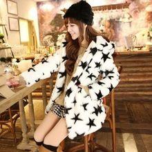 Kürk kadın kış palto kadın kabanlar ile faux tavşan kürk kapşonlu Uzun tasarım kalınlaşmak sıcak üst yapay kürk ceket(China (Mainland))