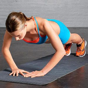 Hold this position for 20 seconds.  Works your triceps like no other - promise.