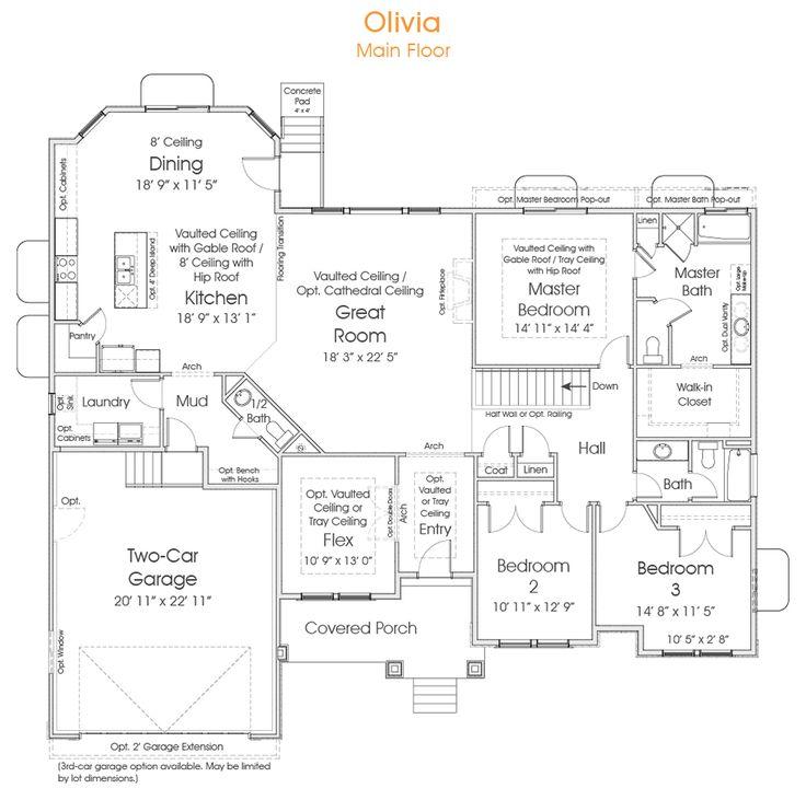 Pws Home Design Utah: 25+ Best Ideas About Rambler House Plans On Pinterest