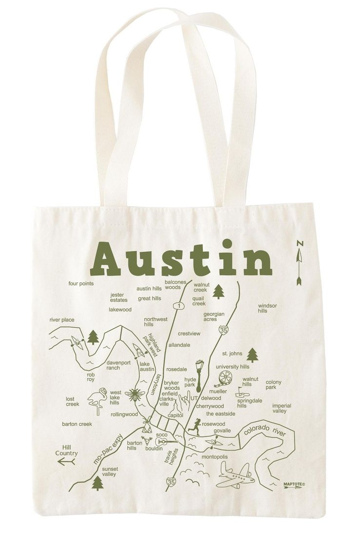 This tote bag with a map printed on it would be perfect as a wedding welcome bag!