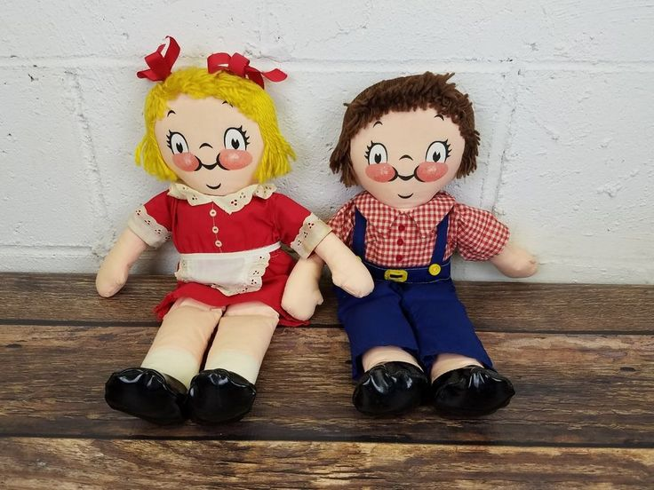"""Vintage Campbell's Soup Kids Dolls 15"""" Cloth Ragdolls Campbell Soup Company 