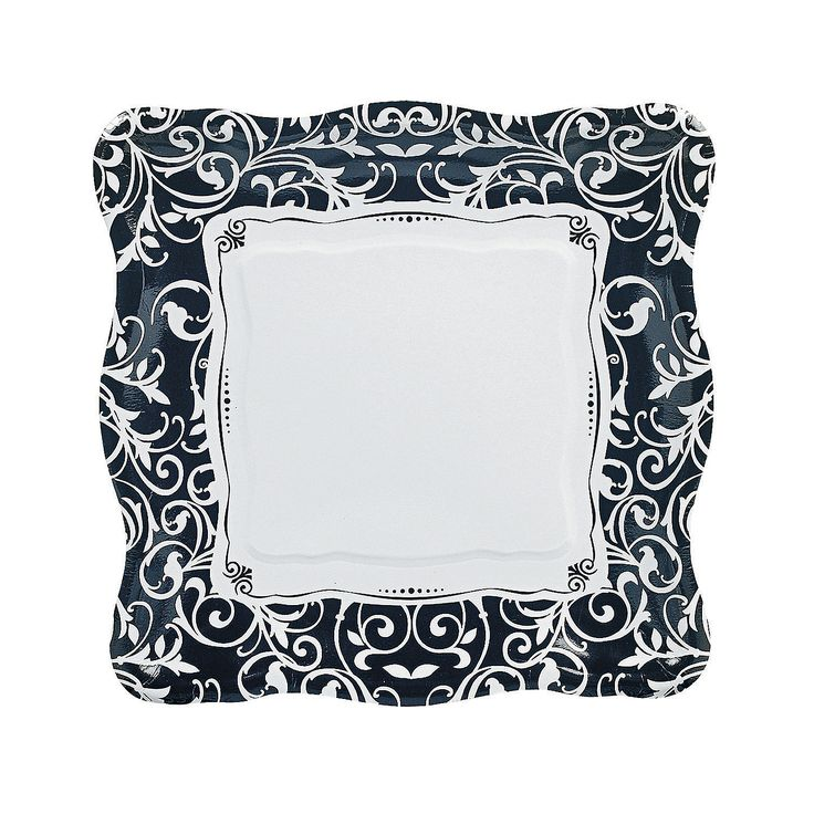 Black & White Wedding Plates - Dinner - OrientalTrading.com