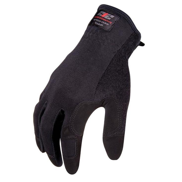 Speed Cuff Touchscreen Compatible Work Gloves, Black