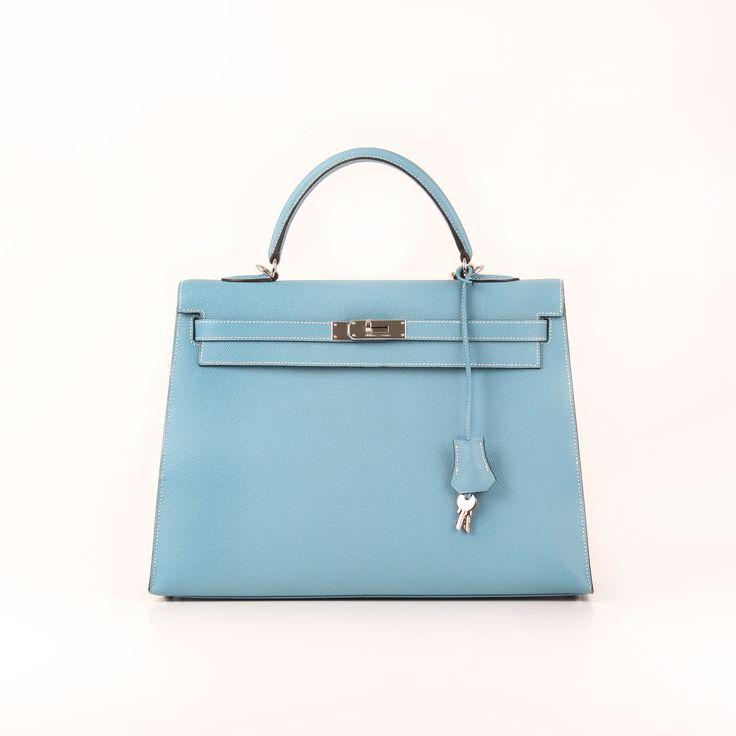 Hermès. Kelly 35 Celeste Blue.