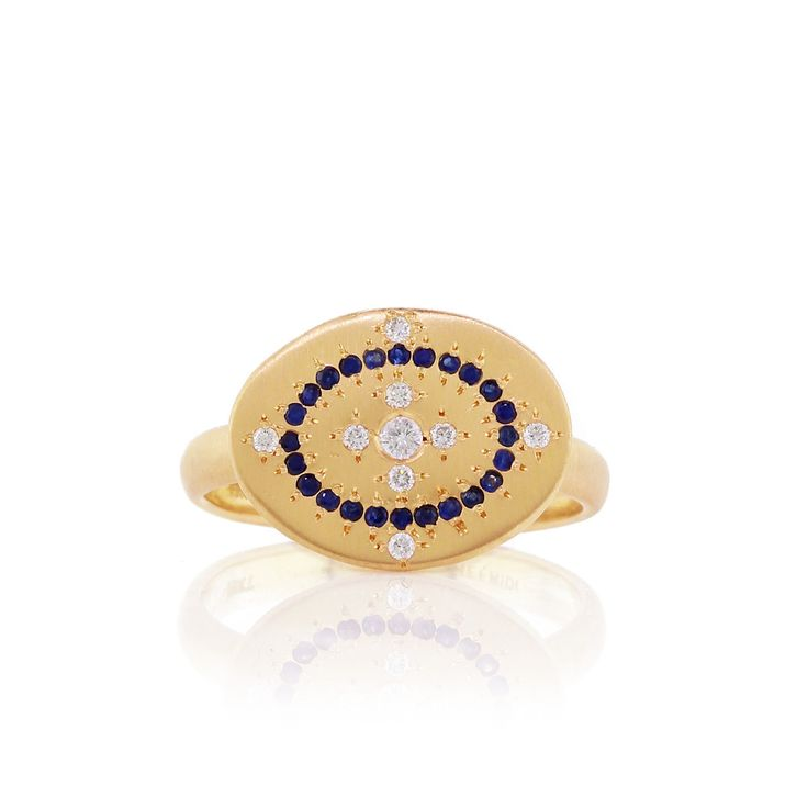 Heaven on Earth blue sapphire and diamond ring by Adel Chefridi #aedlchefridi #askindredspirits #bluesapphirejewlery