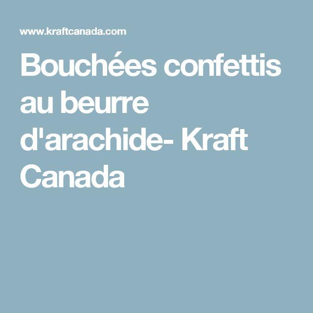 Bouchées confettis au beurre d'arachide- Kraft Canada