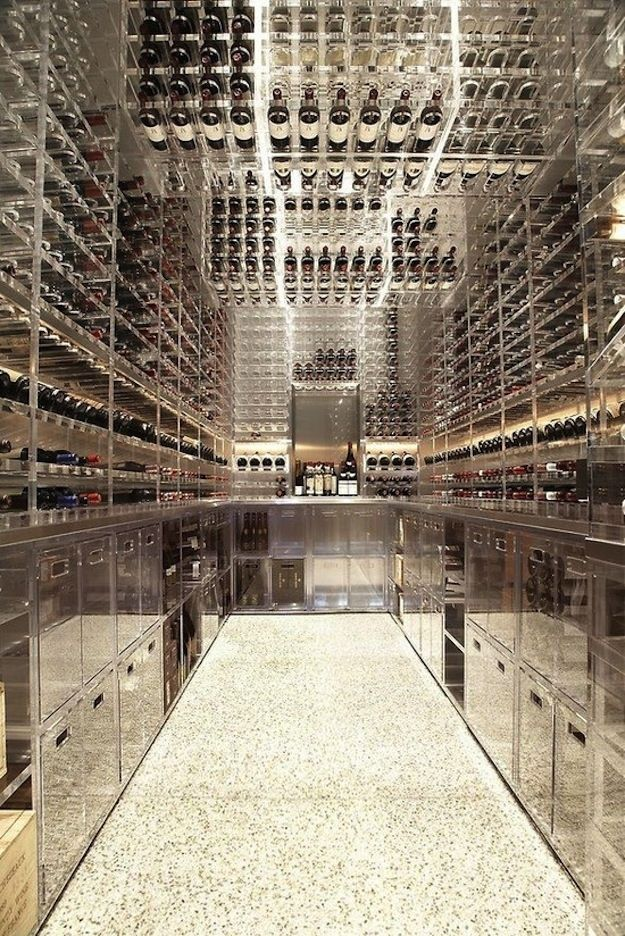 Unbelievably cool wine cellar, wow! Modern Pacific Heights Townhouse | Butler Armsden Architects | San Francisco