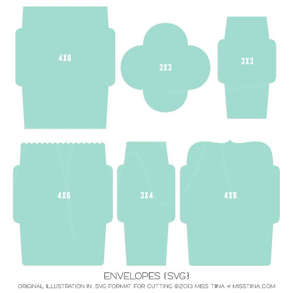 Envelope -Envelope templates in SVG format!