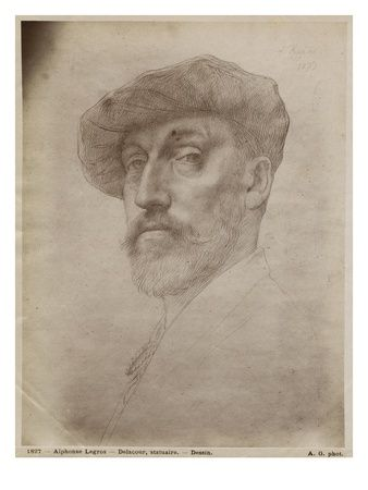 silverpoint portraits | Clovis Delacoux, Sculptor, 1899 (Silverpoint on Cardboard) Giclee ...
