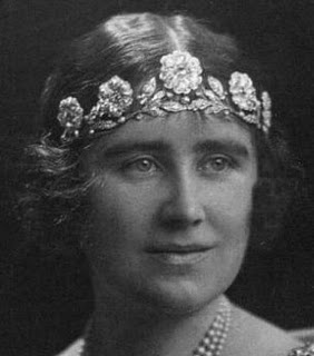 The Strathmore Rose Tiara worn by HM the late Queen Elizabeth the Queen Mother as Duchess of York