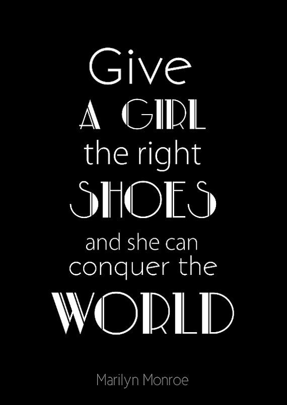 Typographic Print fashion quote print poster by BearAndRobot    ----     I would like to amend this to say BOOKS in place of Shoes...