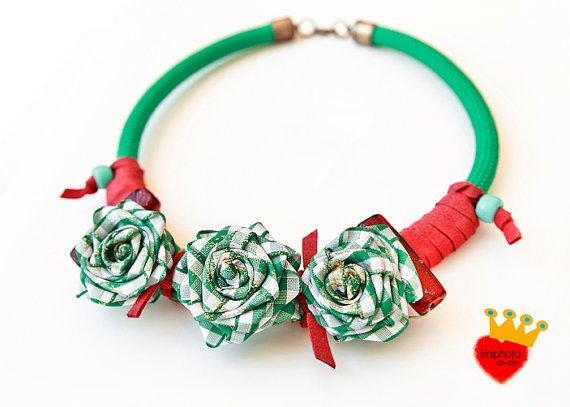 Romantic-Rope necklacestatement by irinimichopoulou on Etsy