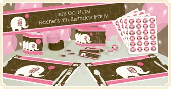 Cute first birthday themes - not sure about elephant but like that it's different