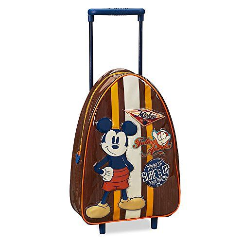 #Disney #Mickey #Mouse #Rolling #Luggage - #Small Genuine, Original, Authentic #Disney Store Textured art features #Mickey and surf team patches Clear plastic surface layer https://travel.boutiquecloset.com/product/disney-mickey-mouse-rolling-luggage-small/