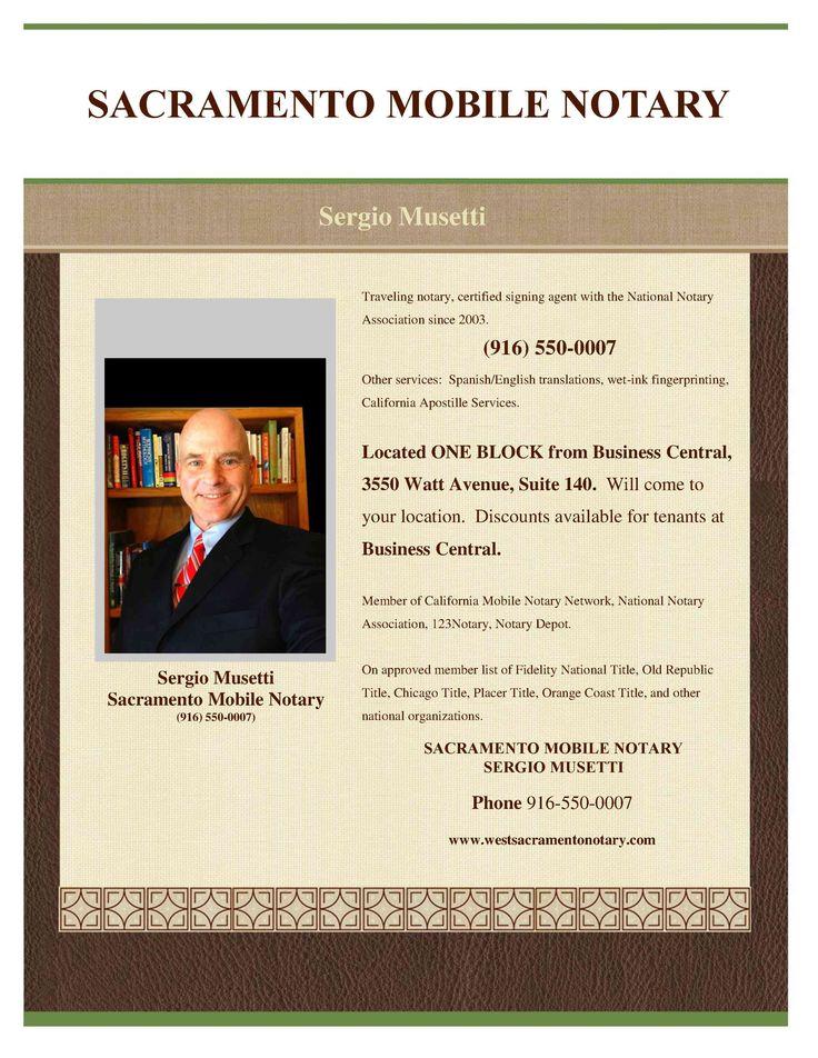 Sacramento mobile Notary Public Signing Agent, Spanish