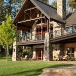 i like the mix of metal and stone. high ceilings on patio feel good and let light in.