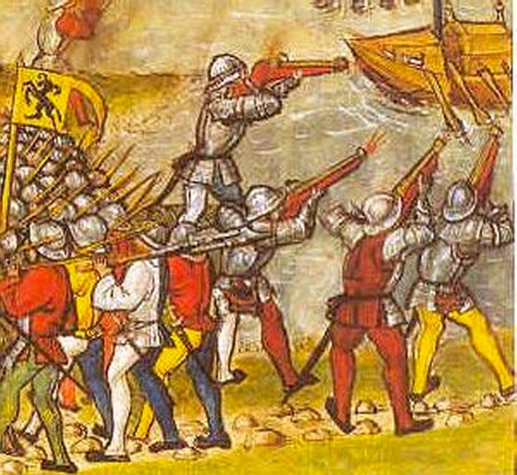 The battle on Zürichsee 1460-1480 from Diebold Schilling der Jüngere: Amtliche Luzerner Chronik von 1513. - Thanks to Andrej Pfeiffer-Perkuhn