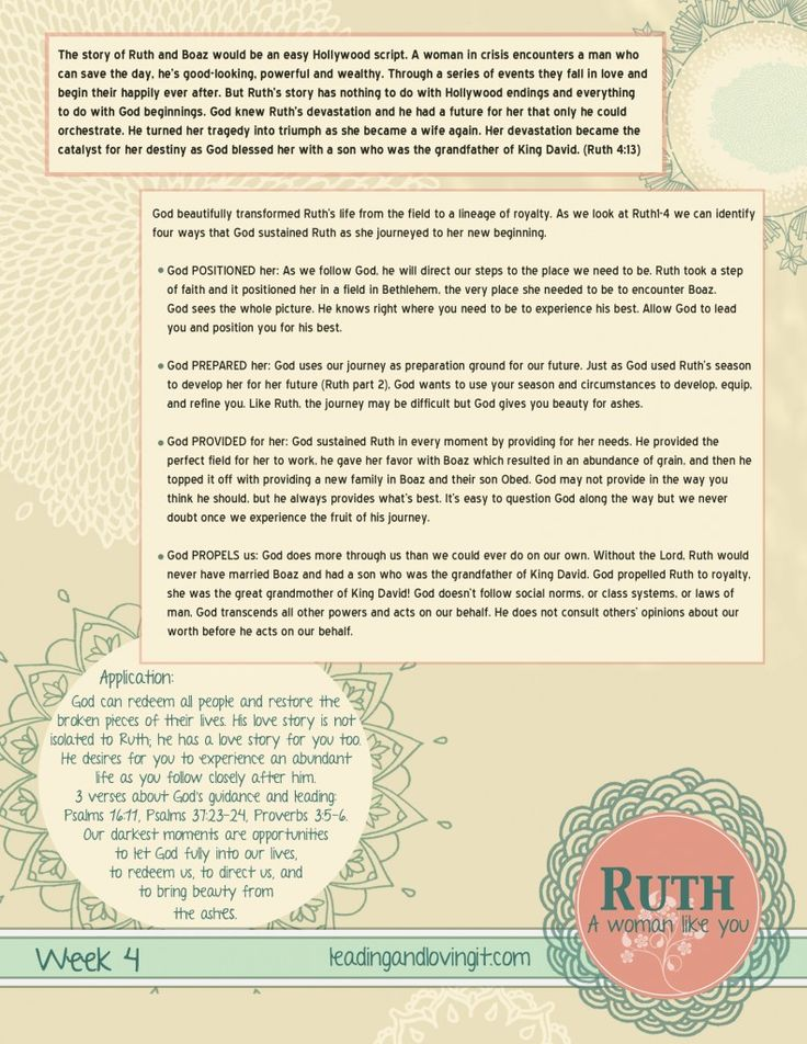 Ruth: A Woman Like You - Week 4   Leading and Loving It