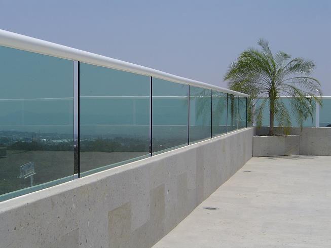 Barandales de cristal templado