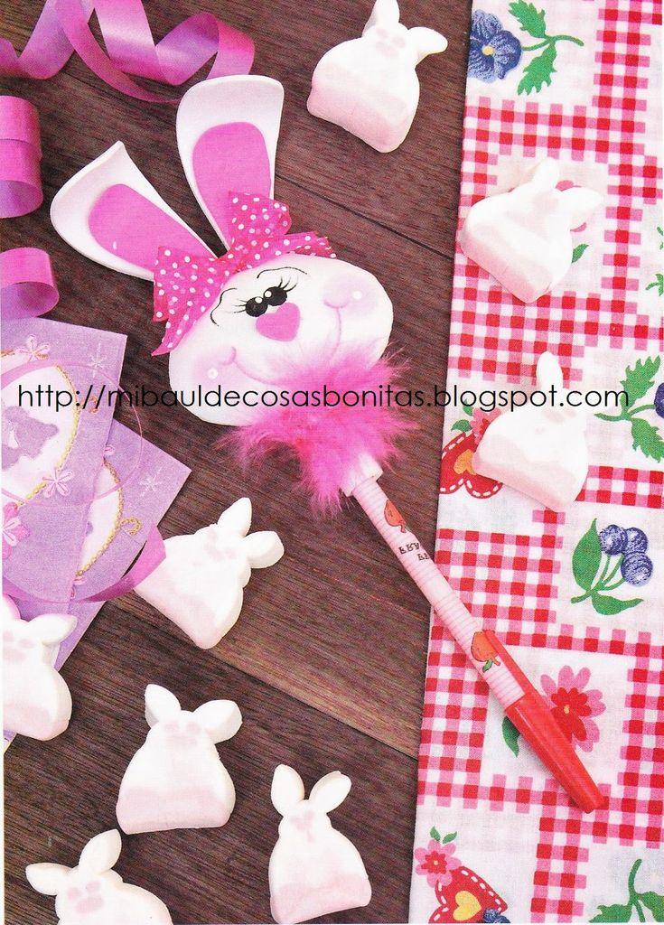 Conejo para adornar lapiz