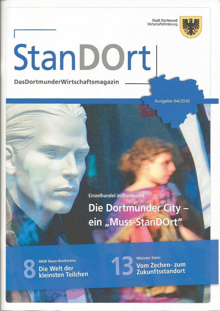 Redaktion und Gestaltung des StanDOrt Magazins im Auftrag der Wirtschaftsförderung Dortmund