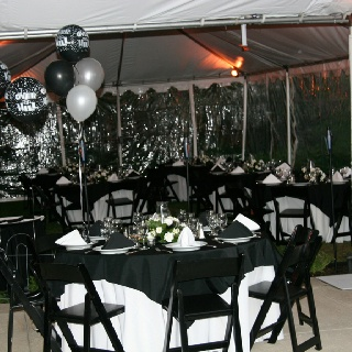 tented black tie party my food parties recipes w panache in