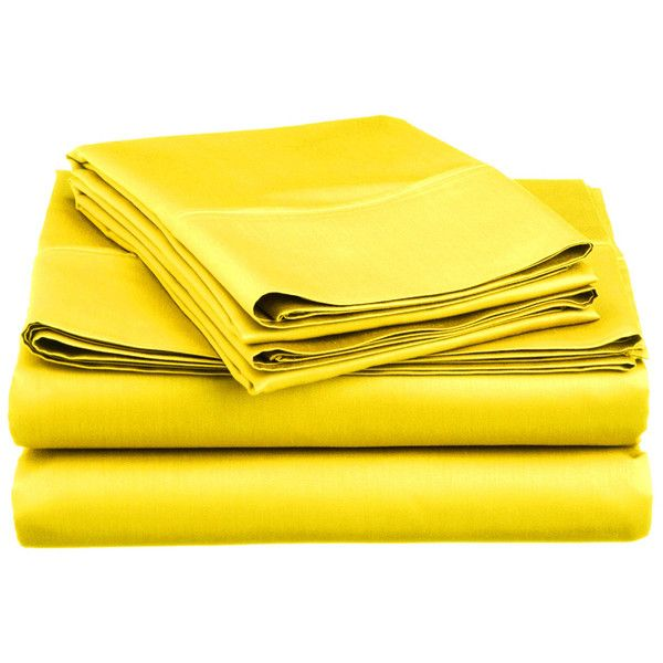 Super Brights Collection Microfiber Sheet Set ($13) ❤ liked on Polyvore featuring home, bed & bath, bedding, bed sheets, yellow, yellow sheet set, twin bed linens, twin bedding, yellow bedding and twin bed sheet sets