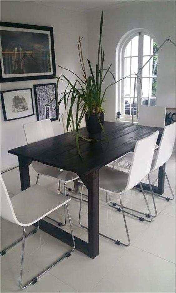 Table à manger moderne en palette