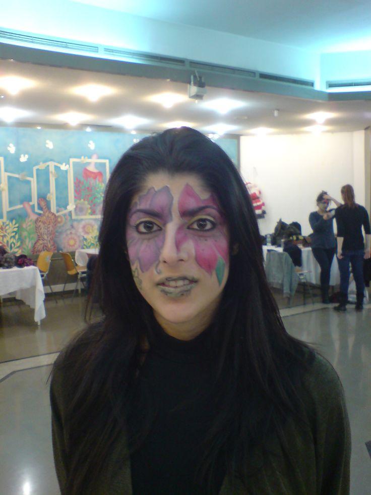 flower makeup halloween makeup