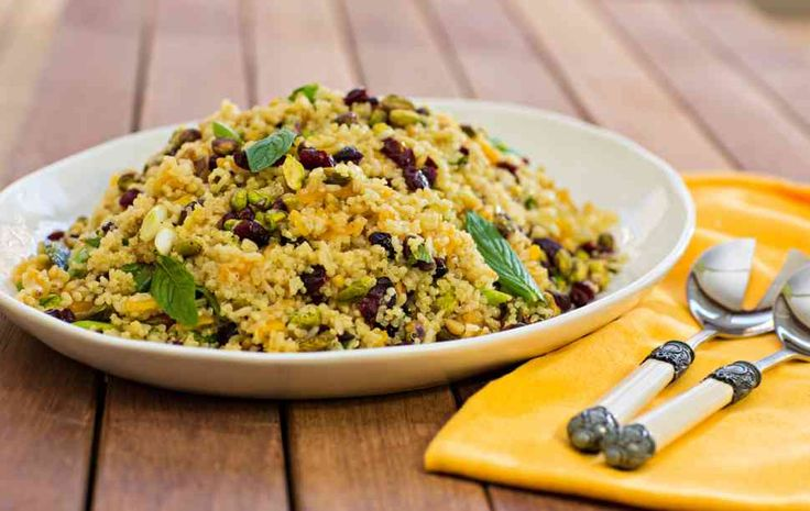 Tenina's Red Rice and Quinoa Salad with Pistachios and Mint