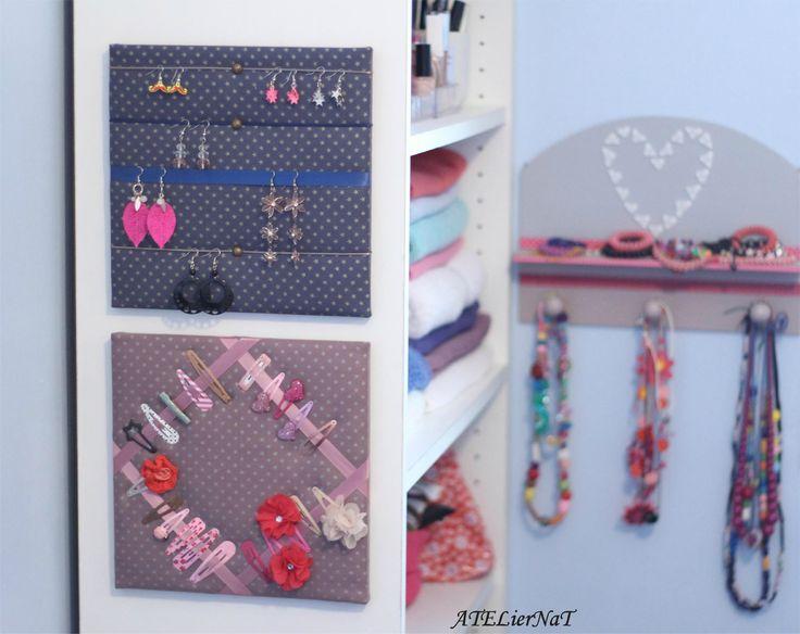Duo étoilé cadre barrettes et porte-bijoux