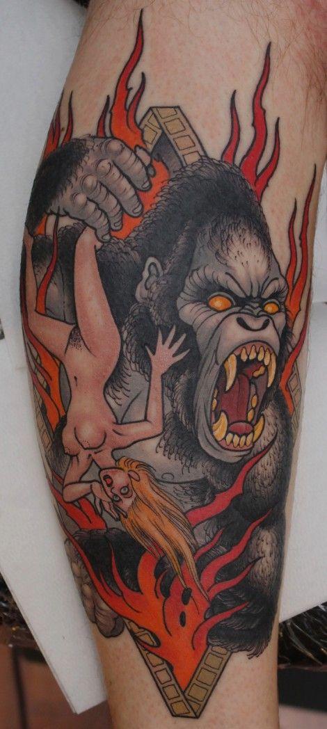 King Kong Tattoo by Peter Lagergren