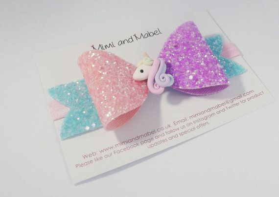 Check out this item in my Etsy shop https://www.etsy.com/uk/listing/455973556/unicorn-hair-bow-clip-unicorn-headband