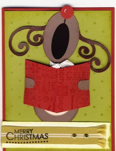 Singing Reindeer by jactop - Cards and Paper Crafts at Splitcoaststampers