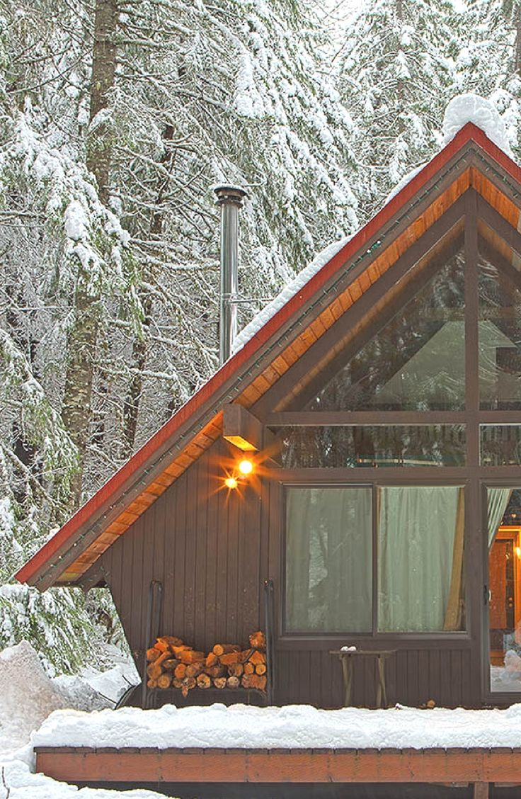 luxury a-frame cabin rental by crystal mountain ski resort near