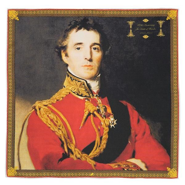 The 200th Anniversary of The Battle Of Waterloo - Duke of Wellington Pocket Square.