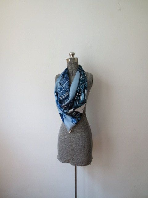 Note tasteful sewing Dummy to show off Parisian scarf listing at https://www.etsy.com/listing/231972784/gorgeous-vintage-french-modele-depose-c