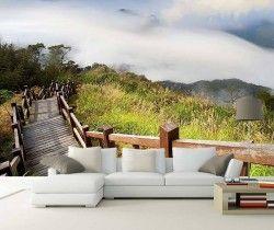 Ahşap Merdivenler Manzara Duvar Kağıdı