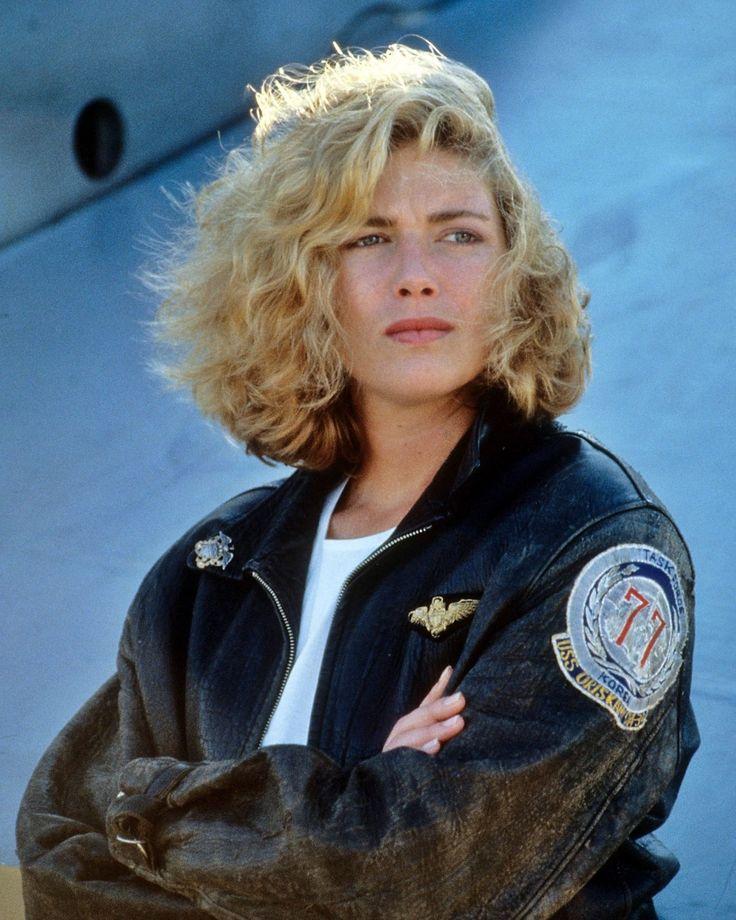 """Kelly McGillis as """"Charlie"""" in Top Gun."""