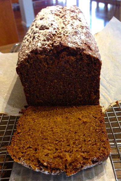 This super soft and moist gingerbread loaf totally hits the spot. Serve warm…