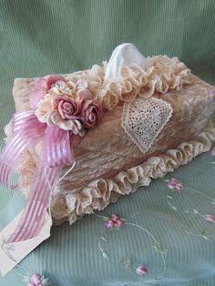 romantic shabby chic tissue box covers - Google Search