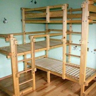 Triple loft bunk beds kids