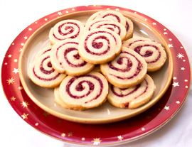 Xmas Cookies - Cranberry Walnut Swirls. One of our favorite easy Xmas cookie recipes - pretty & delicious!