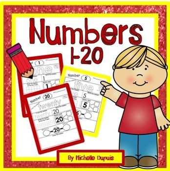 This resource includes 20 ready to print practice worksheets for numbers 1-20.