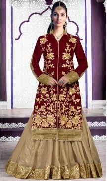 Velvet Designer Wear Lehenga Suits in Maroon Color | FH530980200 #indian , #salwar , #kameez , #dresses , #suits , #women , #ledies , #designer , #clothing , #boutique , #online , #shopping , #anarkali , #churidar , #palazo , @heenastyle , #dupatta , #fashion , #mode , #henna , #mehendi, #lehengasuit, #fashion, #net